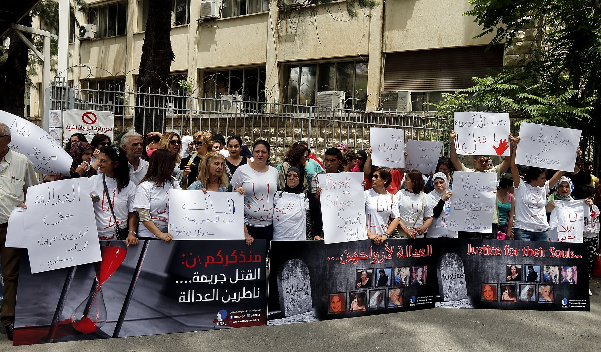 REPORT: RDFL rally in solidarity with Lebanese women against domestic violence