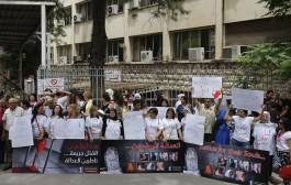 التجمع النسائي الديمقراطي اللبناني ينظّم وقفة تضامنية مع نساء لبنان ضد العنف الأسري